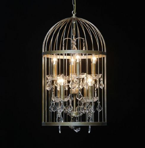 Bird Cage Chandelier in Antique Gold Medium
